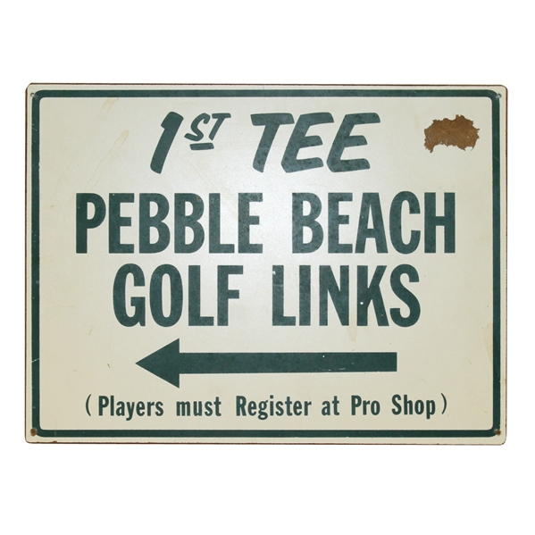 Pebble Beach Golf Links '1st Tee' Sign