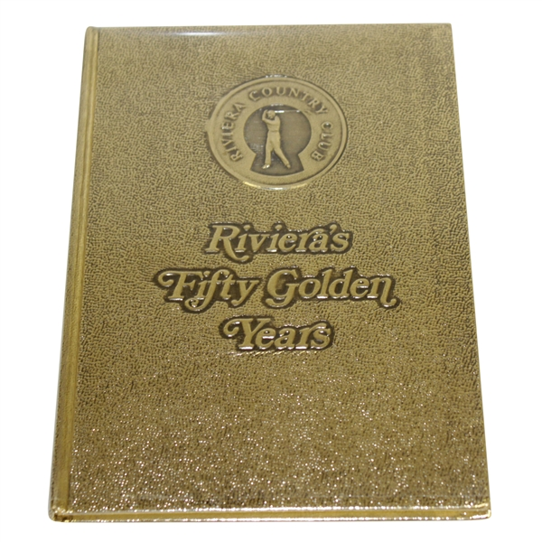 'Riviera's Fifty Golden Years' Book w/ Golden Cover - Excellent Condition