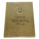 Rivieras Fifty Golden Years Book w/ Golden Cover - Excellent Condition