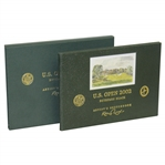 2002 US Open at Bethpage Artists Sketchbook Deluxe Edition by Kenneth Reed w/ Slipcase 81/250