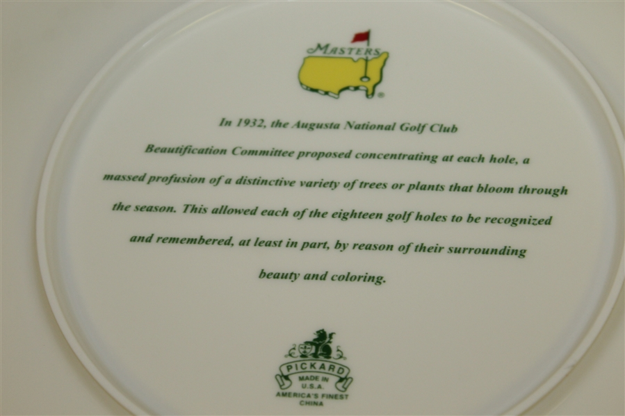 Masters Tournament Pickard Beautification Committee Plate in Original Box - Ray Floyd Collection