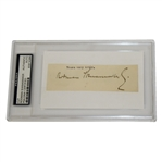 Rodman Wanamaker Vintage Fountain Pen Cut Signature PSA/DNA #83914366