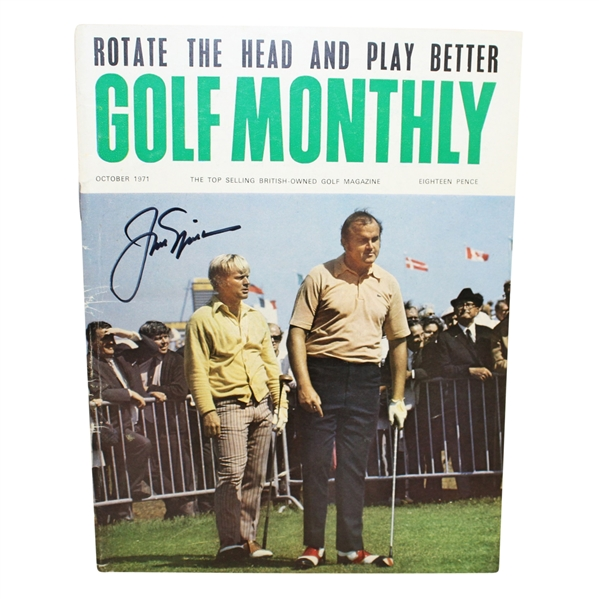 Jack Nicklaus Signed 1971 Golf Monthly Magazine JSA #Q49309