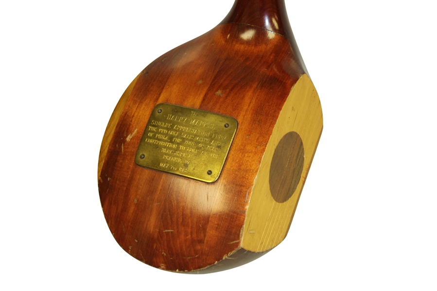 1962 Oversize Golf Wood Club Given to Pro-Golf Assoc. of Philadelphia Harry Markel