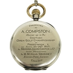 Archie Compstons 1925 British Open Championship Runner-Up Gifted Silver Pocket Watch