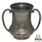 1923 First Gross Fall Open Silver Loving Cup at Brockton Country Club Trophy Given to HH Marden - Stamped Reed & Barton
