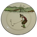 Royal Doulton Golf Plate He Hath A Good Judgement...
