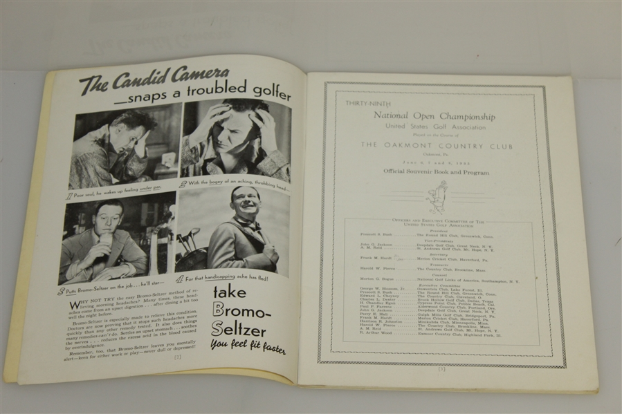 1935 US Open Program Signed by Robert Bobby T. Jones Jr. JSA FULL JSA #Z42967