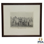Leading Professionals of the Year Print - Golf Illustrated Christmas 1902 w/ Taylor, Vardon & Braid etc.