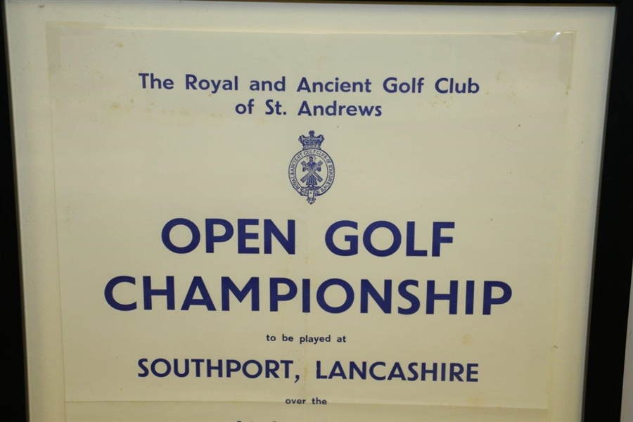 1961 Royal Birkdale Open Golf Championship Ticket Offering Poster - Arnold Palmer Victory