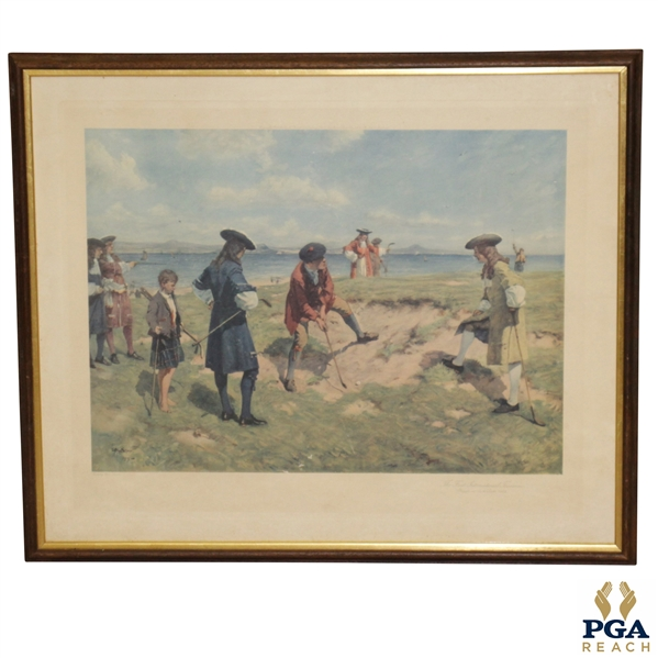 First International Foursome - Played on Leith Links in 1682 by Allan Stewart Circa 1911