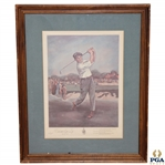 1972 Bobby Jones Ltd Ed. Print by The Old Golf Shop Feat. Merion Cricket Club - 400/1000
