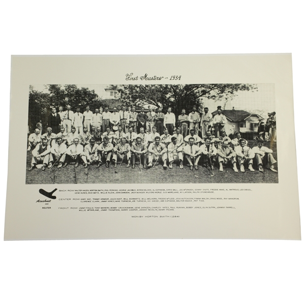 1934 First Masters Acushnet Augusta Invitational Field Photo - Reproduction