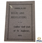 1913 Ladies Golf Club of St. Andrews Rules And Regulations Booklet