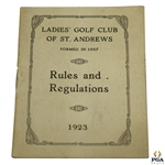 1923 Ladies Golf Club of St. Andrews Rules And Regulations Booklet