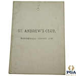 1892 St. Andrews Club Rules, Regulations, and By-Laws Booklet