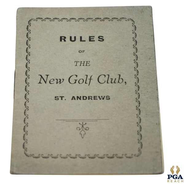 1949 St. Andrews 'Rules of the New Club' Booklet with Amendments (1958)