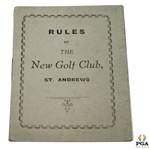 1949 St. Andrews Rules of the New Club Booklet with Amendments (1958)