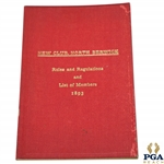 1893 North Berwick New Club Rules & Regulations and List of Members Booklet