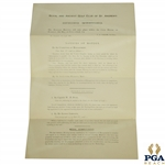 1891 Royal & Ancient Golf Club of St. Andrews Notice of Spring Meeting - April