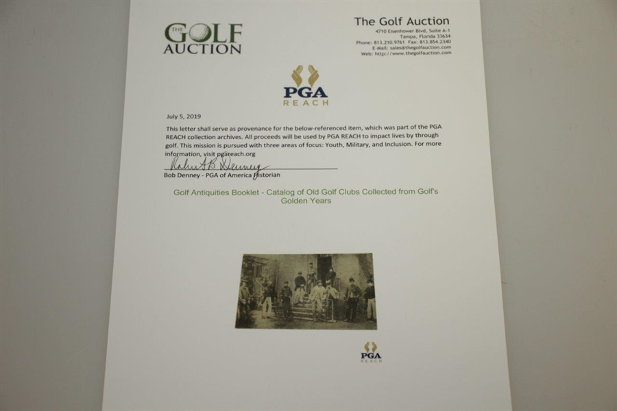 Golf Antiquities Booklet - Catalog of Old Golf Clubs Collected from Golf's Golden Years
