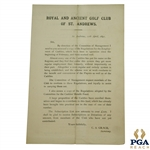 1891 Royal & Ancient GC of St. Andrews Employment of Caddies & Caddies Benefit Fund Report - April