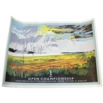 Justin Leonard Signed 1997 Open Champinship Royal Troon Poster by Kenneth Reed JSA ALOA