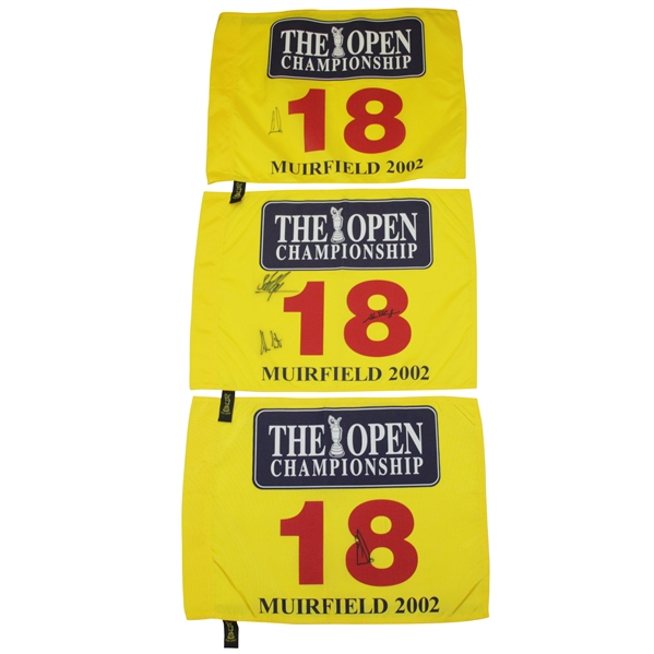 Ernie Els Signed 2002 Open Championship Muirfield Flags w/ Runner Ups JSA ALOA