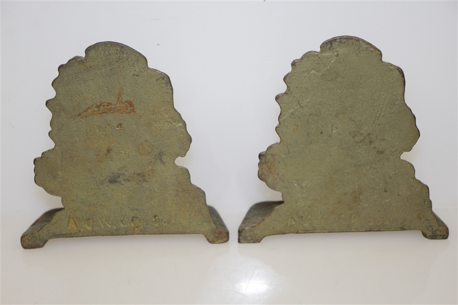 Classic Bobby Jones Cast Iron Bookends by A.C. Williams