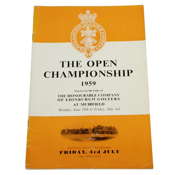1959 Open Championship at Muirfield Friday Program - Gary Player Win