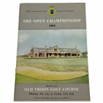 1962 Open Championship at Old Troon Program - Arnold Palmer Winner