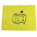 Jack Nicklaus & Gary Player Signed Undated Masters Embroidered Flag w/ Winning Years JSA ALOA