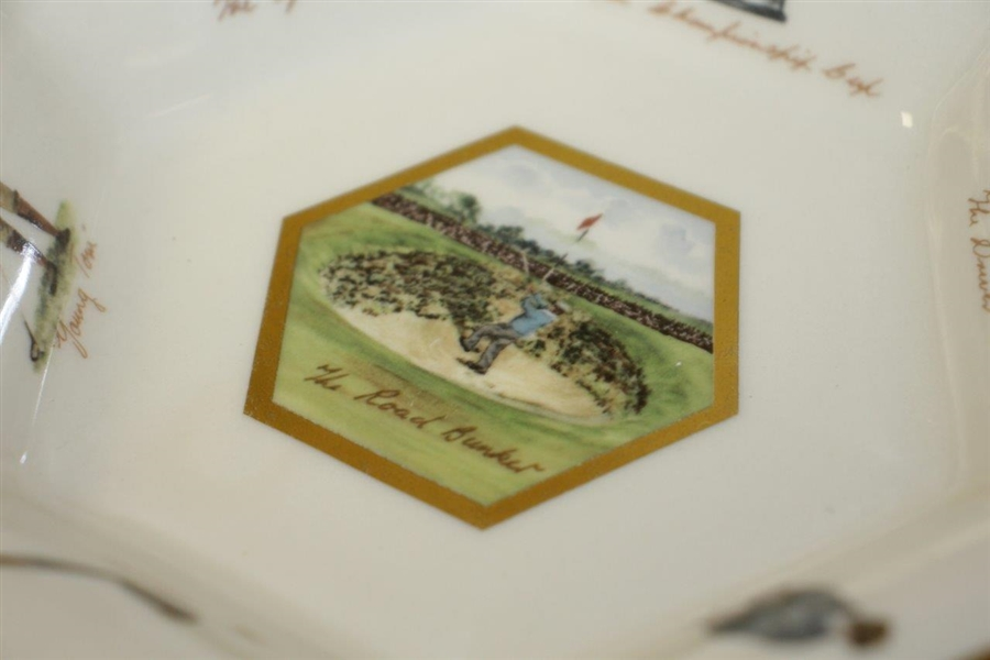 Road Bunker St Andrews Dish w/ James Braid by Pointers of London Illustrated by Bill Waugh