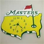 Classic Masters Tournament Yellow Logo Golf Wall Clock - Works