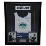 Phil Mickelson & Bones Signed Tournament Victory Worn Caddie Bib - Framed FULL JSA #BB18488