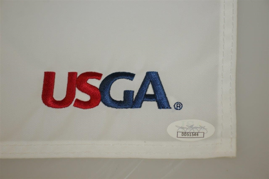 Gary Woodland Signed Ltd Ed 2019 US Open at Pebble Beach Embroidered Flag JSA #DD62516