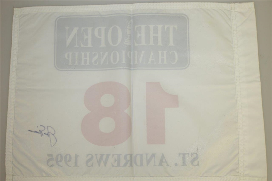 Jack Nicklaus Signed 1995 Open Championship at St. Andrews Flag JSA FULL #Z91303