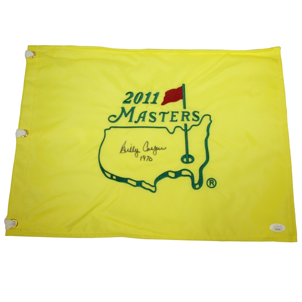 Billy Casper Signed 2011 Masters Embroidered Flag with '1970' Notation JSA #EE96295