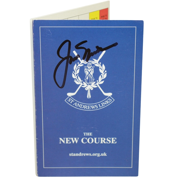 Jack Nicklaus Signed Old Course St. Andrews Scorecard JSA #EE96318
