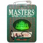 Ian Woosnam Signed 1991 Masters Tournament Badge #A00992 JSA EE96314