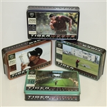 Tiger Woods Nike Tiger Slam Dozen Balls in Tin Collectors Boxes - Set of 4