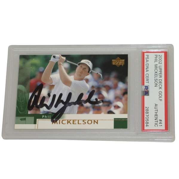 Phil Mickelson Signed 2002 Upper Deck Card PSA #28870584