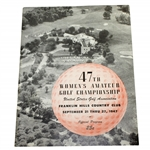 1947 US Womens Amateur Championship at Franklin Hills CC Program - Louise Suggs Winner