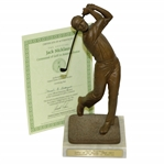 Jack Nicklaus Golfer of the Decade 1968-1977 Statue with Certificate
