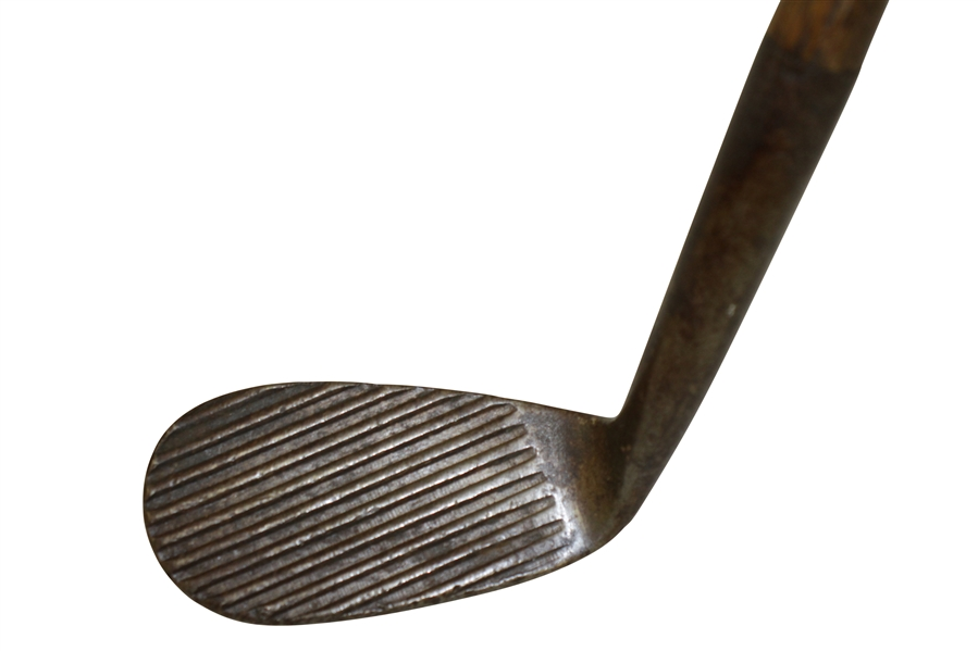 George Nicoll Zenith Wood Shafted Deep Groove Pitcher Iron