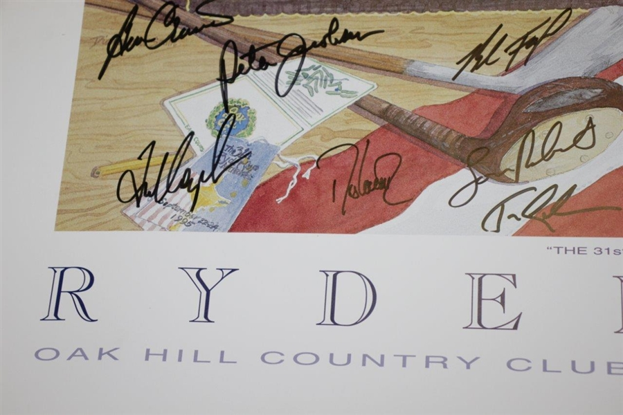 1995 Ryder Cup at Oak Hill Country Club Team USA Signed Poster FULL JSA