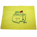 Charles Coody Signed 2011 Masters Flag with Year and Score Inscription JSA #EE96299