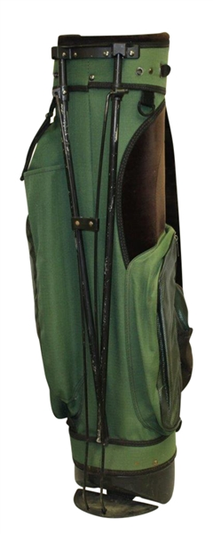 Masters Tournament Green Stand Bag with 2001 Bag Tag - Good Condition
