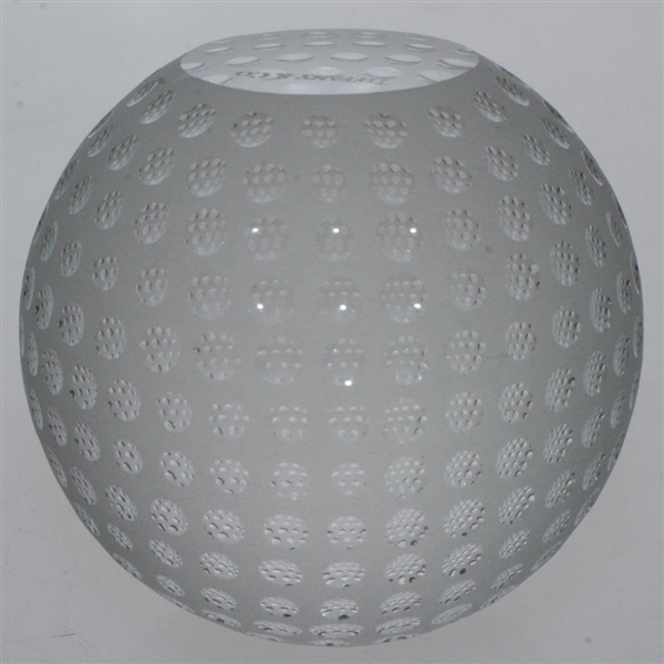 Tiffany & Co Luxury Leaded Crystal Art Glass Golf Ball Paperweight with Original Box