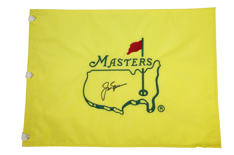 Jack Nicklaus Signed Undated Masters Embroidered Flag JSA FULL #Z91302